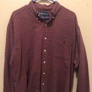 Ralph Lauren Men's Dress Shirt Cotton Size Large